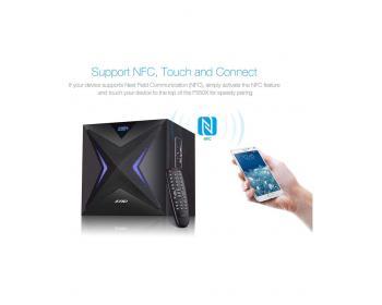 Буфер Bluetooth Тонколони 2.1 Fenda F&D F550X, 56 RMS (2x14W + 28W), Led подсветка, USB