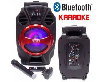 Караоке тонколона Feiyipu R-8 с Bluetooth, Безжичен микрофон, USB, SD card, Радио и Цветомузика