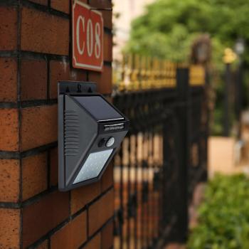 Градинска стенна LED лампа с 2 сензора LEd Wall Light LED20
