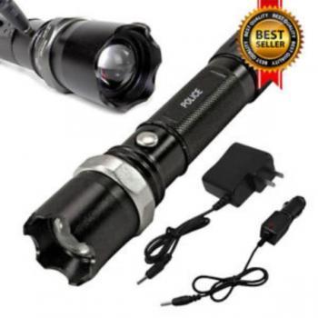 Мощен полицейски акумулаторен прожектор(фенер) с CREE LED диод SWAT + ПОДАРЪК зарядно за автомобил 12/24V