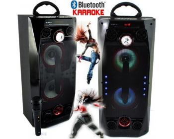 Караоке колона QS-36 с Bluetooth, USB, микрофон, цветомузика и радио
