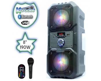 Тонколона Караоке с Bluetooth SD карта и Флашка Viva KTS-1048 с микрофон цветомузика и акумулатор