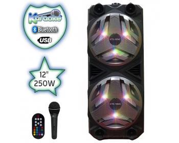Тонколона Караоке с Bluetooth SD карта и Флашка Viva KTS-1054 с микрофон цветомузика и акумулатор