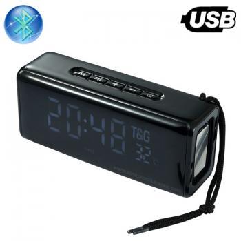 Bluetooth Колона TG-174, Power Bank, Часовник