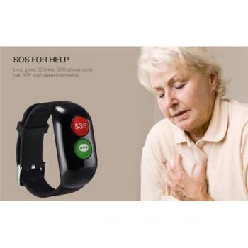 Смарт гривна за възрастни хора Smart Technology H02, GPS проследяване, SOS бутон и обаждания, Пулс, Кръвно налягане, Аларма при падане