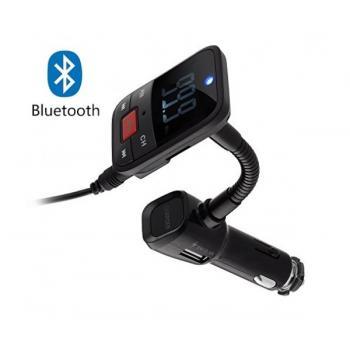 Автомобилен Bluetooth FM трансмитер с USB зарядно за GSM