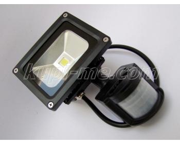 Външен LED прожектор с датчик за движение PirLed 10W